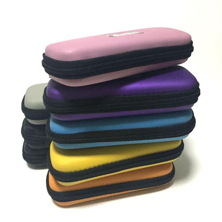 Colorato eGo cerniera sacchetto del cuoio custodia caso sigaretta elettronica cig sacchetto di trasporto caso per Vetro penna vape bong tubo acqua