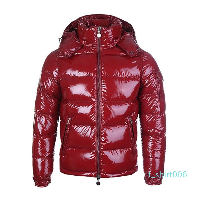 designer francês vermelho para baixo casaco de inverno jaqueta para homens com casaco quente grossa para homens curto penas de ganso para homens high-end TS06