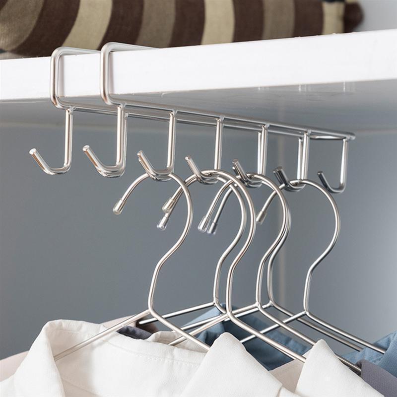 Aufhänger Multi Für Funktionshaken Schindel Küche porable Schlafzimmer Doppel 1pc Nützliche Durable Reihe Edelstahl Praktische TCall bdebaby