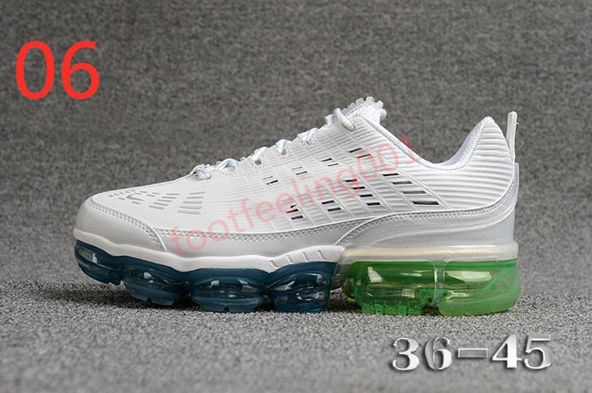 2020 amortiguador de aire nuevo producto zapatillas para correr una variedad de colores para hombres y mujeres jóvenes estilos del todo-fósforo malla zapatillas deportivas para hombre