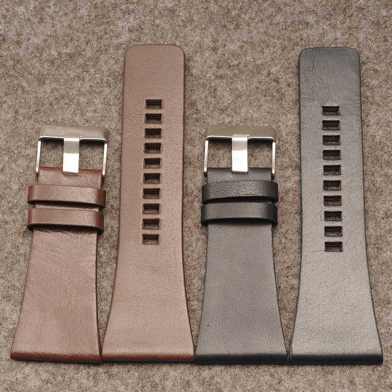 Leather strap for DZ1405 Strap 26 28 30 32 |34mm calfskin watch accessories