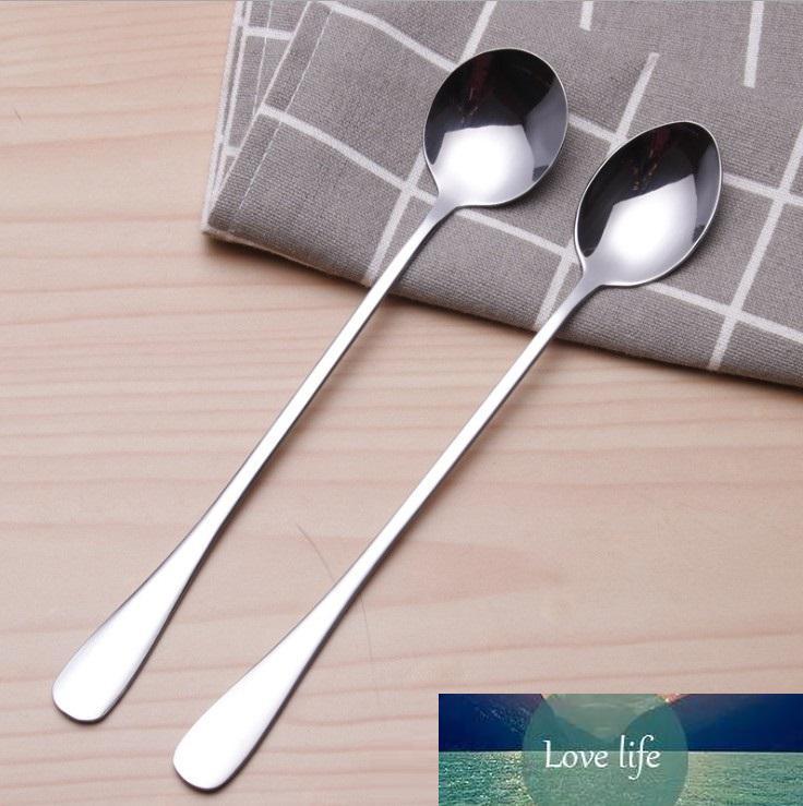 Из нержавеющей стали длинной ручкой Ложка кофе латте Ice Cream Soda Пломбир коктейль Scoop Бесплатная доставка
