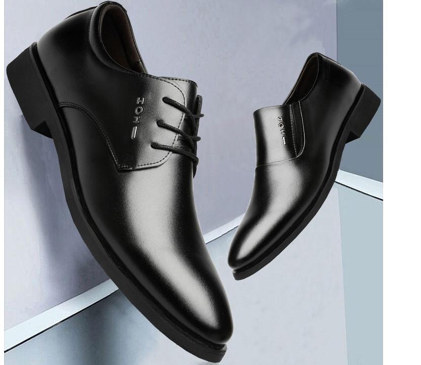 2020 весной и осенью с обувью Нового стиля мода низкого каблука заостренного концом мужской @ ZX180