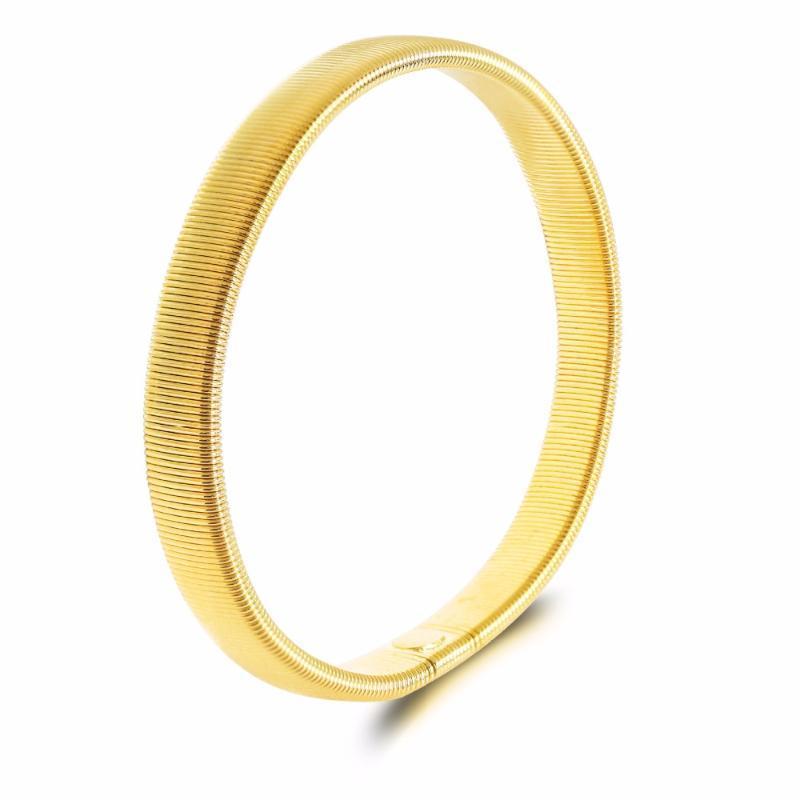 Argent flexible Simple Noir Solide plaqué or couleur réglable Bracelets Bangles pour Femmes Hommes