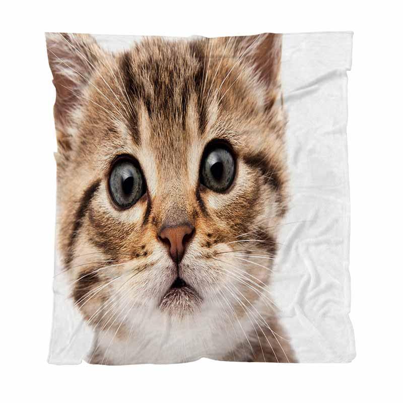 Warm Flannel Fleece Towel Blankets Tiger Cat Eyes Ignorant Winter Warm Throw Blanket For Bed Sofa Soft Solid Blankets Bedspread Plush