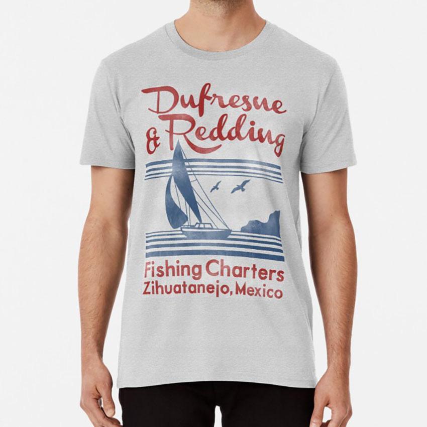 Dufresne Y Redding camiseta Cadena perpetua Stephen King divertida de la película fresca Retr Tv impresionante