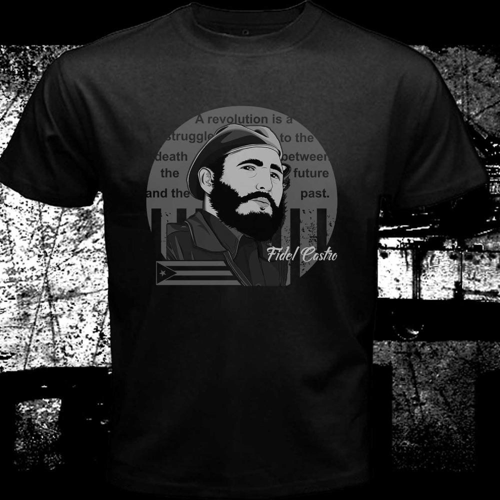 Che Guevara Классический портрет Фидель Кастро Эль Caballo Куба Black Men Топы Тис 2019 лето новый стиль мужчины высокого качества футболку