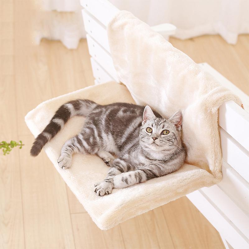 Kediler için Kedi Yatak Çıkarılabilir Pencere Eşiği Evi Kedi Salonu Hamak Radyatör Yumuşak Yastık Pet Mat Hamak Koltuk Yatak Asılı