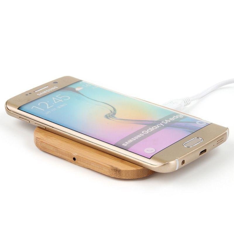 Qi Wireless-Ladegerät Slim Wood Charging Pad Matte für Samsung Galaxy Note 9 IP8 XS 11 Pro Wireless-Ladegerät Handy-Ladegerät Lade