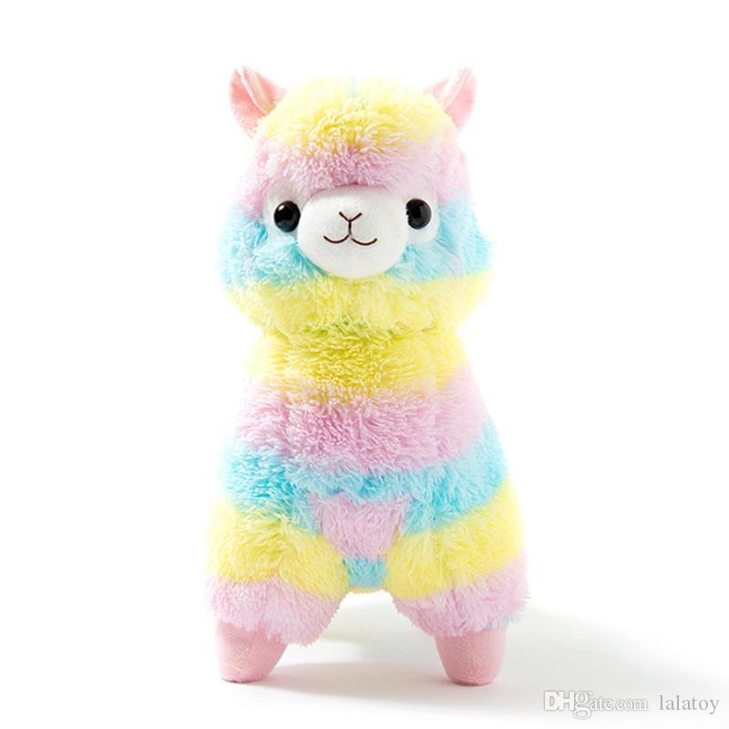35cm 50cm 레인보우 알파카 플러시 양 토이 일본어 소프트 봉제 Alpacasso 아기 봉제 인형 알파카 선물 LA025
