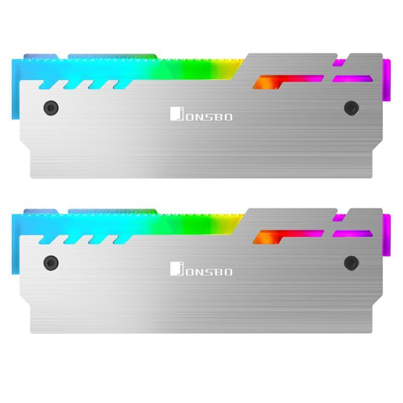 Jonsbo NC-3 2pcs RAM Охладитель Радиатор 5V 3Pin ARGB PC Память Охлаждение Vest теплоотвод Cooler для настольных ПК Оперативная память DDR DDR3 DDR4