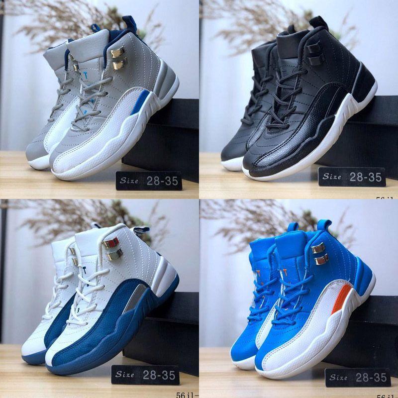 Высокая Qaulity Jumpman XII 12 Дети Баскетбол обувь 12s кроссовки XII 112 мальчиков девочек младенца детей РЕТРО Спортивная обувь 28-35
