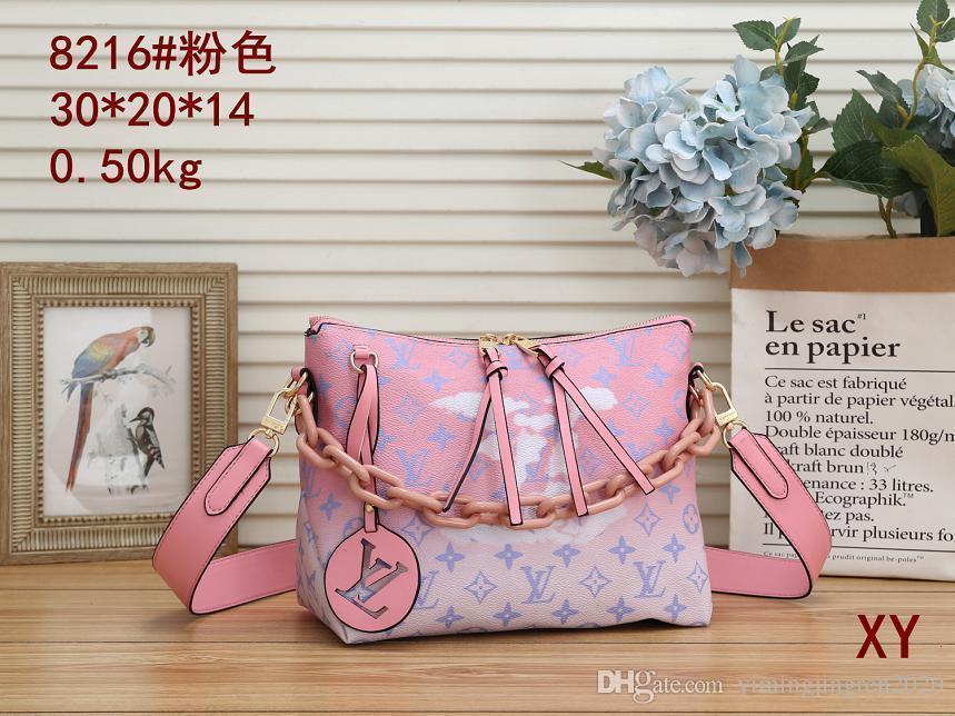 Ursprüngliche Qualitäts-Designer Luxus-Handtaschen Portemonnaie MONTAIGNE Beutel-Frauen Tote Marke Brief Embossing echtes Leder-Schulter-Beutel 2A-067