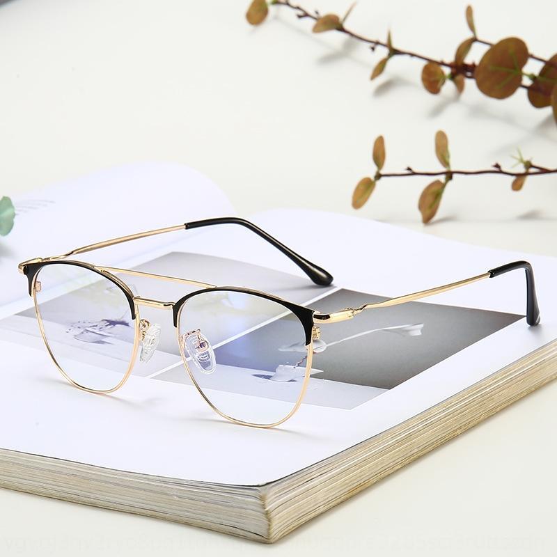 k3JF8 metal sobrancelha negócio da moda feixe duplo óculos de armação de alto grau de anti-luz azul quadro miopia óculos comum dos homens e das mulheres