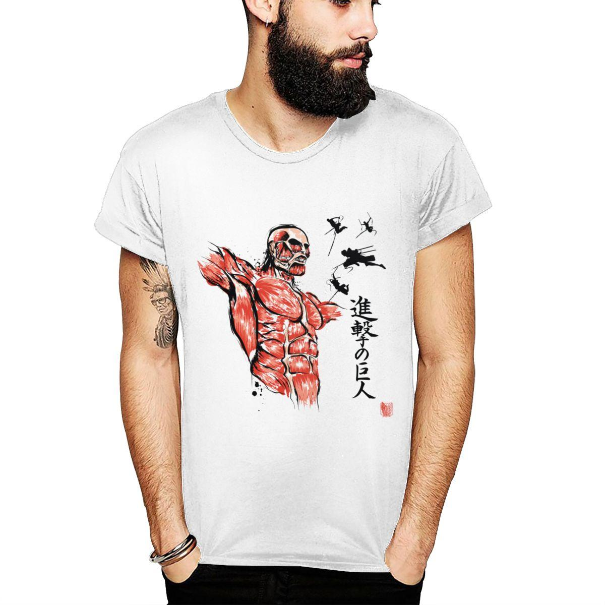 Angriff auf Titan Fliegen für die Freiheit T-Shirt Männer-Rundhalsausschnitt Neueste T-Shirt