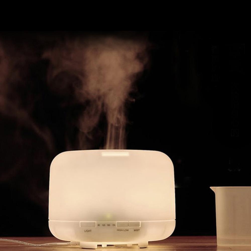 500ml Air Humidificateur à ultrasons Humidificateur minuterie huile essentielle Diffuseur Aromatherpy Aroma Diffuseur d'air pour la maison T190628