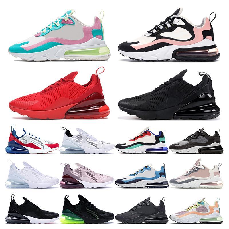 air max 270 남성 신발을 실행하는 새로운 주식 X 270 트리플 검정, 흰색 사육 대학 레드 Cactu 그레이 로즈 핑크 여자 운동 스포츠 운동화 트레이너