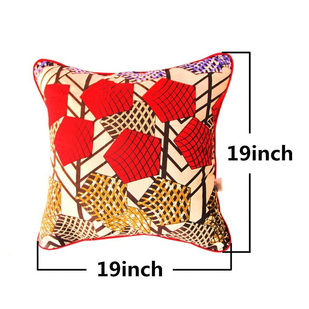 African Print cuscino di tiro Casi di cotone o un'immagine cera Ankard tessuto della decorazione della casa (19 pollici * 19 pollici)