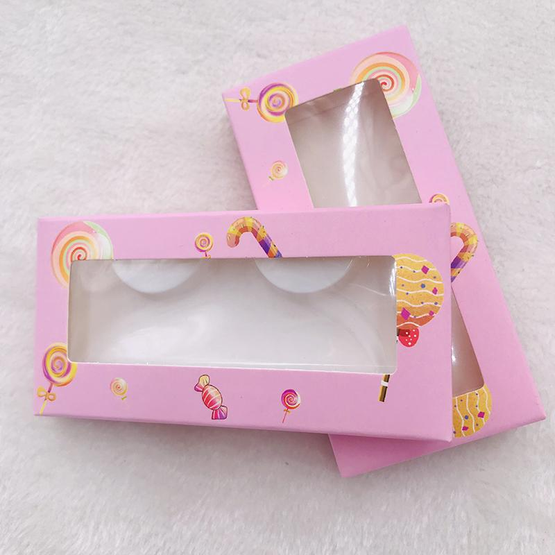 20pics/lot lollipop lashes box empty lashes box with trays custom logo sweet hot selling packing