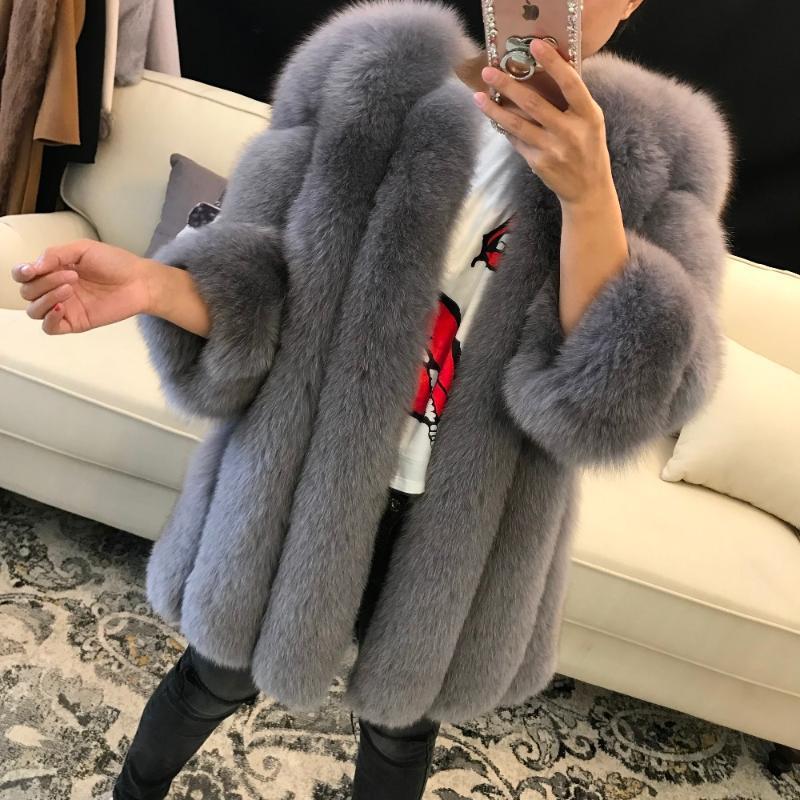 women real fur coat lady natural fur coat winter outwear