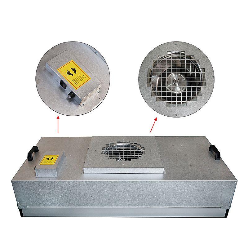 جديد وصول 2020 FFU-1175 مروحة مروحة وحدة FFU كفاءة لتنقية الهواء تصفية واحد مائة تدفق المدخل هود نظيفة