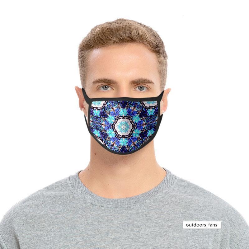 und Kaleidoskop 3d Staubdichtes windundurchlässiger Druck Polyester-Gewebe Waschbar Ice Silk Mask