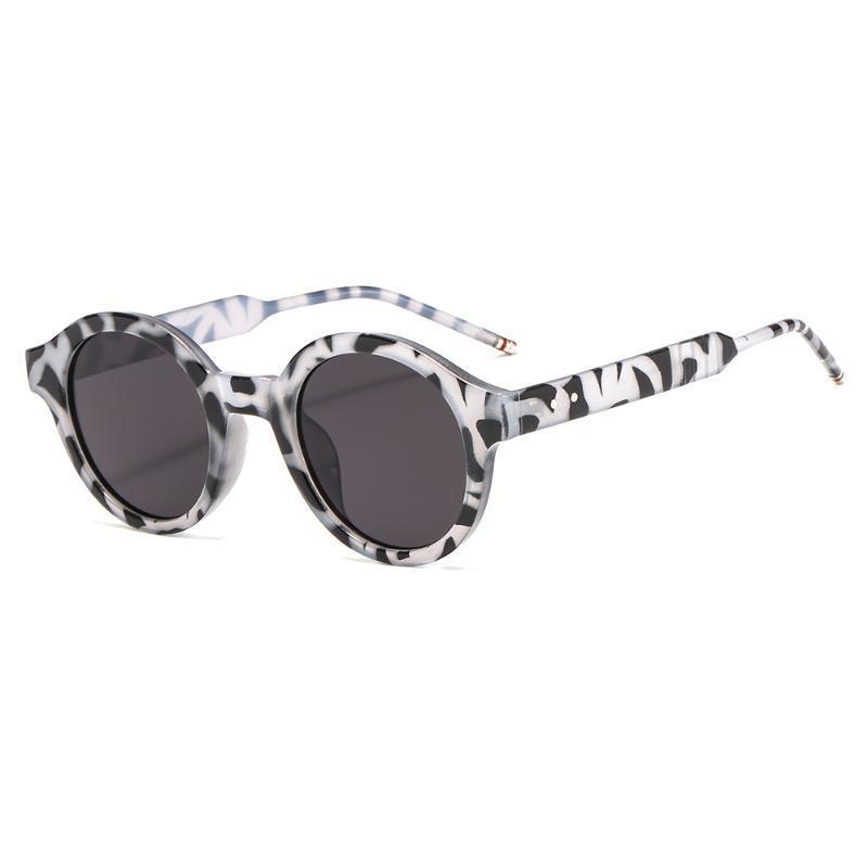 Мода ретро Круглые солнцезащитные очки Женщины Мужчины Марка Дизайн Прозрачные линзы акрилового материала 4 цвета 3316 UV400 Защита очки