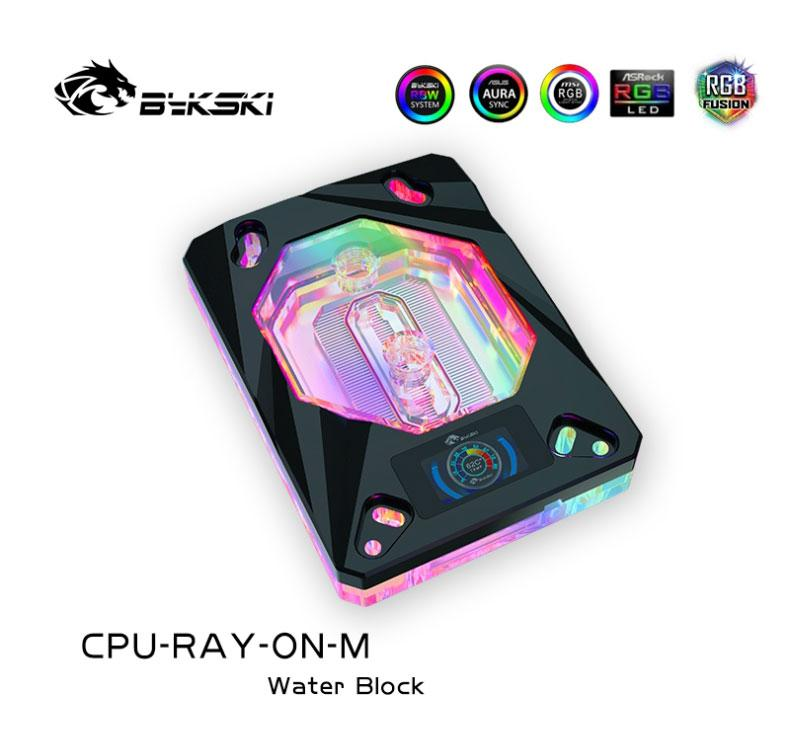 Bykski CPU Water Block use for AMD RYZEN3000 AM3 AM3+ AM4 1950X TR4 X399 X570 Motherboard / Block with OLED Temperature Display