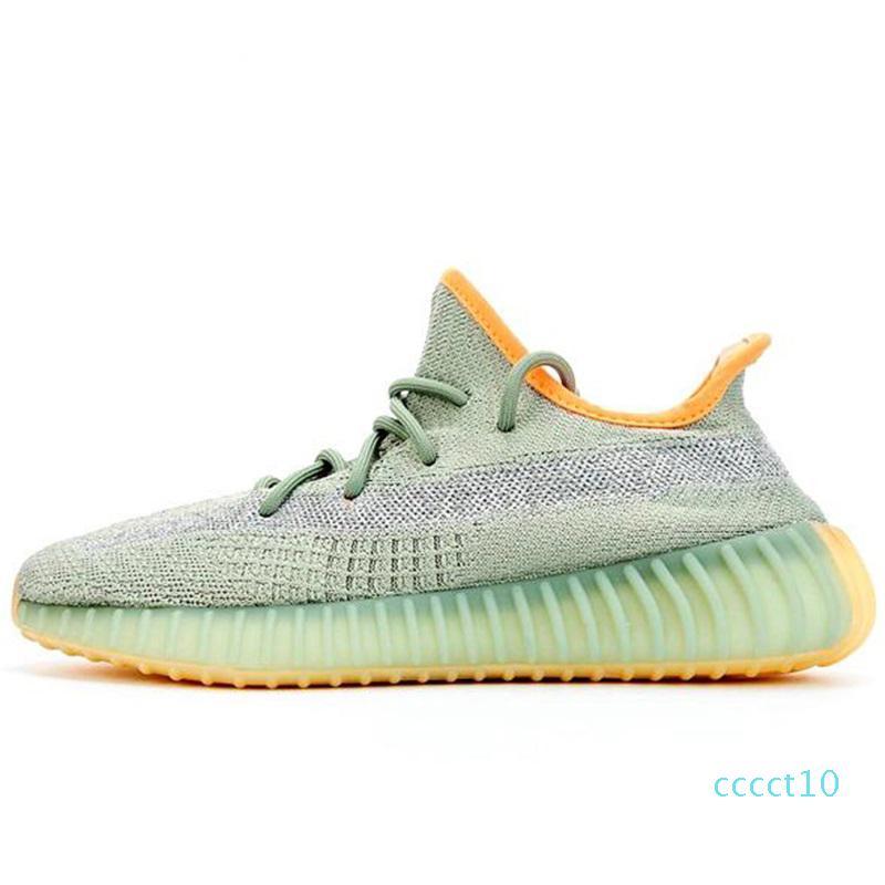 2020 Kanye West Yecher Asriel Israfil Sulfu de los zapatos corrientes de cola de luz estática cebra lino Citrin Gid Bred Tierra Cinder para hombre Trainersct10