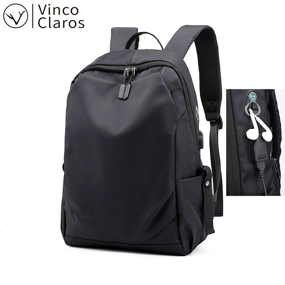 15.6 Inch Laptop Backpack Leggero Business Travel Zaini Maschio qualità Impermeabile Oxford Mens Bookbag Uomo solido Simple