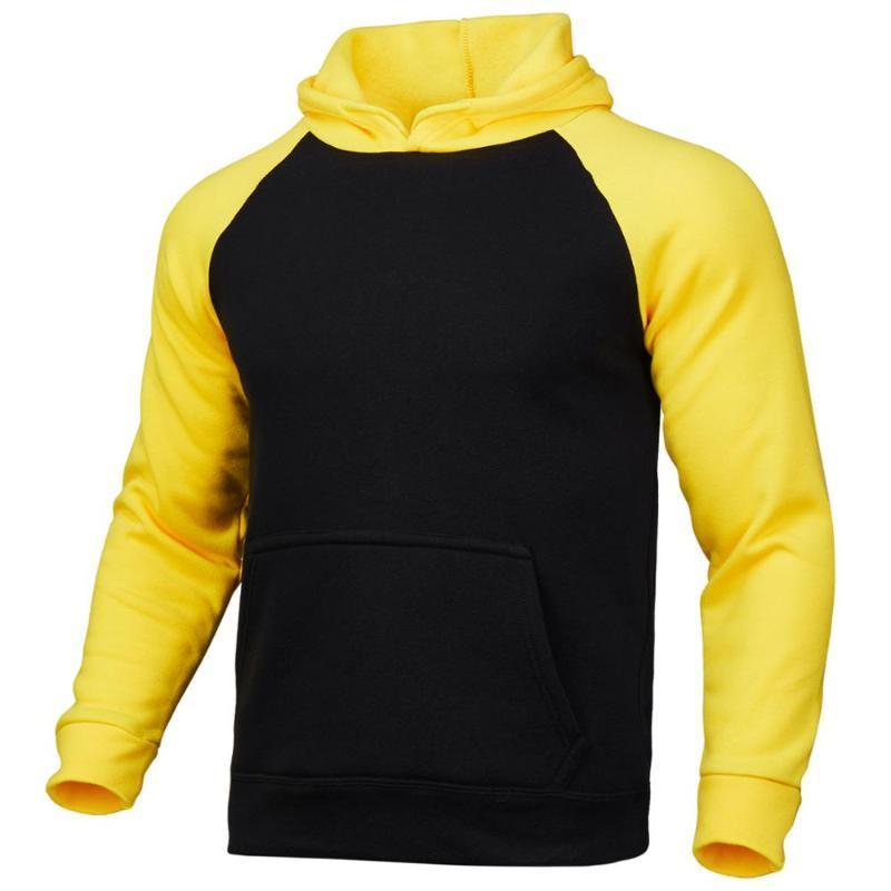 2020 transfronteiriça versão coreana do costume manga raglan a cor sólida cor contraste hoodie do sportswear logotipo da fábrica d