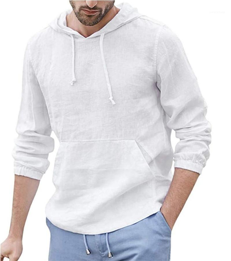 Hoodies Fashion Solid Color Breath Leinen Dünne PulloverHoodies Teenager beiläufige Art mit Kapuze Hoodies Frühling Mens Designer