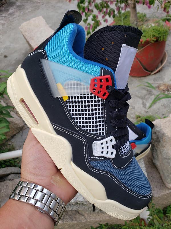 2020 Новый релиз Союз LA х 4s Мужчины баскетбол обувь Лучшие качества Man Спортивные кроссовки Кроссовки Jumpman 4 дез Chaussures Zapatos