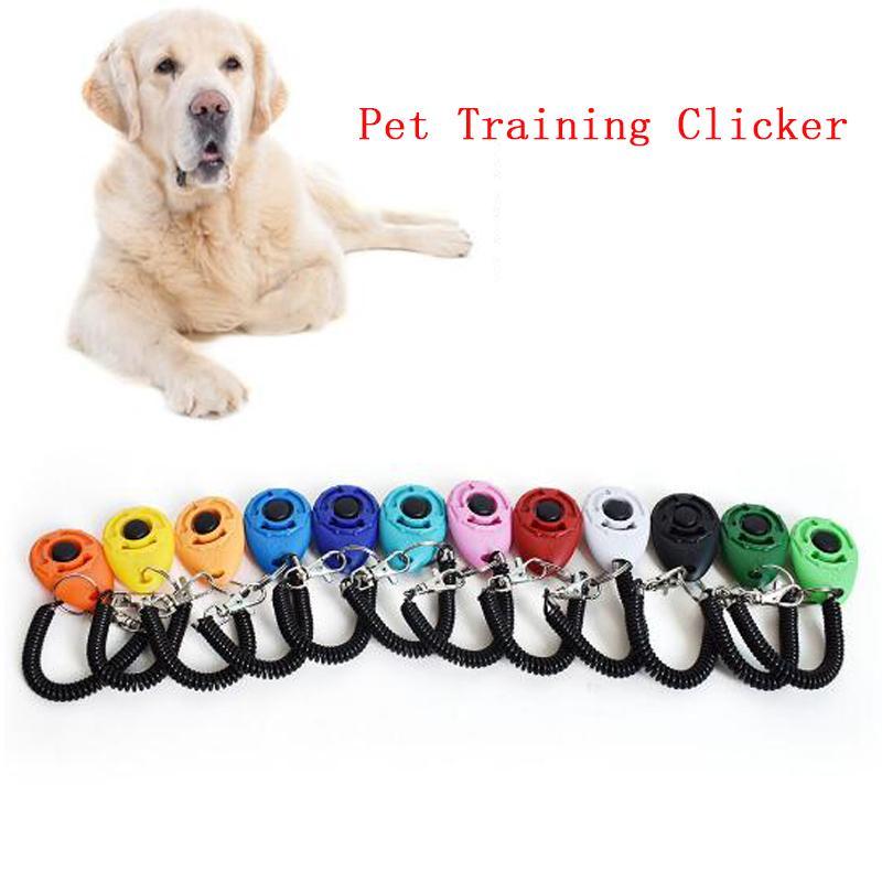 Свободная перевозка груза 11 стилей Портативный Регулируемая Цепной ключ и ремешок Щенок Собака Кошка Pet Clicker Открытый учебный инструмент Собака флейта
