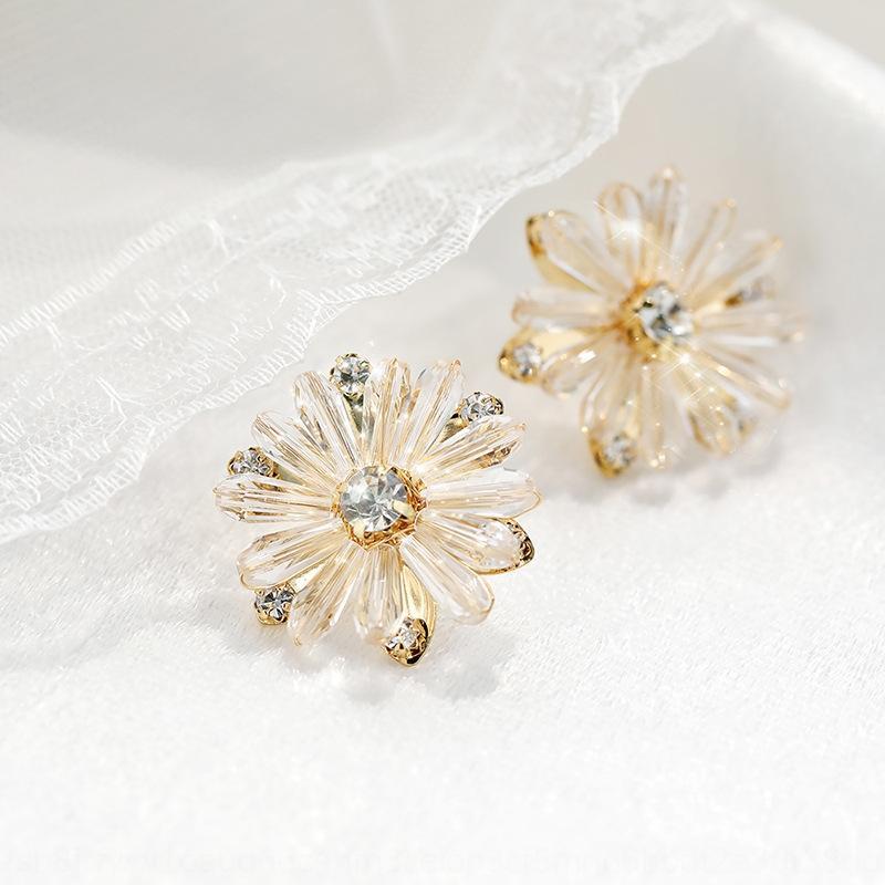 0UchV chinesischen Valentinstag koreanische Temperament 925 Sterlingsilber Kristallohrringe und Ohrringe Kristall Chrysantheme Geschenk für Freundin