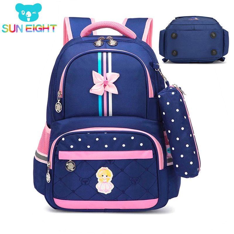 sacos Hot 1-3 grau Girls School Bag escola para meninas Crianças Mochilas menina Mochila Escolar Crianças Bag Arco Cruzado Mochila Infantil 200919