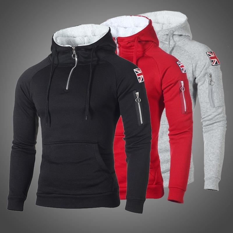2020 Brand Long Sleeves Sweatshirt Men Hoodies Autumn Winter Solid Hoodie Mens Hip Hop Coat Pullover Male Casual Tracksuits Tops T200917
