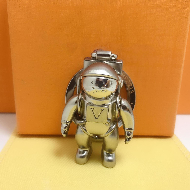 Hochwertige solide Metallschlüsselkette Art und Weise Auto Spaceman Schlüsselanhänger Marke kreativ Astronaut Design Männer Frauen Luxus Schlüsselanhänger packagin k9md #