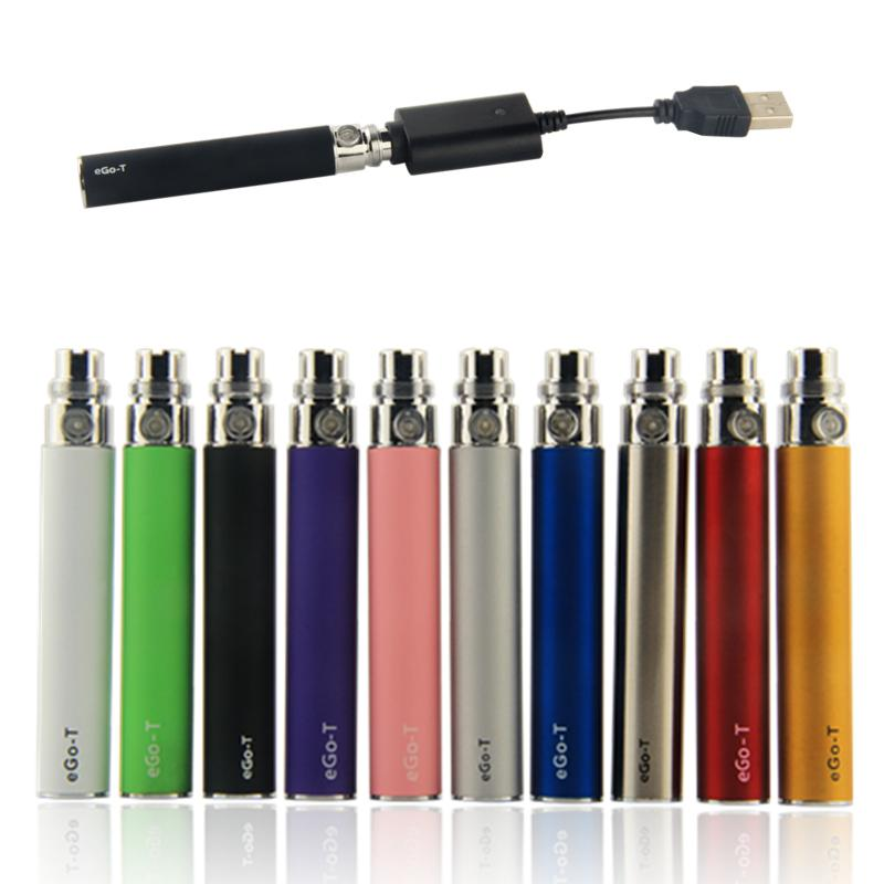 510 battery come with USB Charger eGo Series 650 900 1100mah ego-t vape evod batteries for Ce4 oil vapes Atomizer 100% Quality