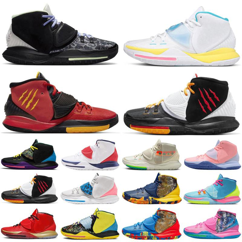 New Kyrie 6 Ásia Irving Jumpman Homens Sapatos Baskteball EUA Shot Clock N7 Piscina Néon Graffiti Bruce Lee Mens Trainers Sports Sneakers
