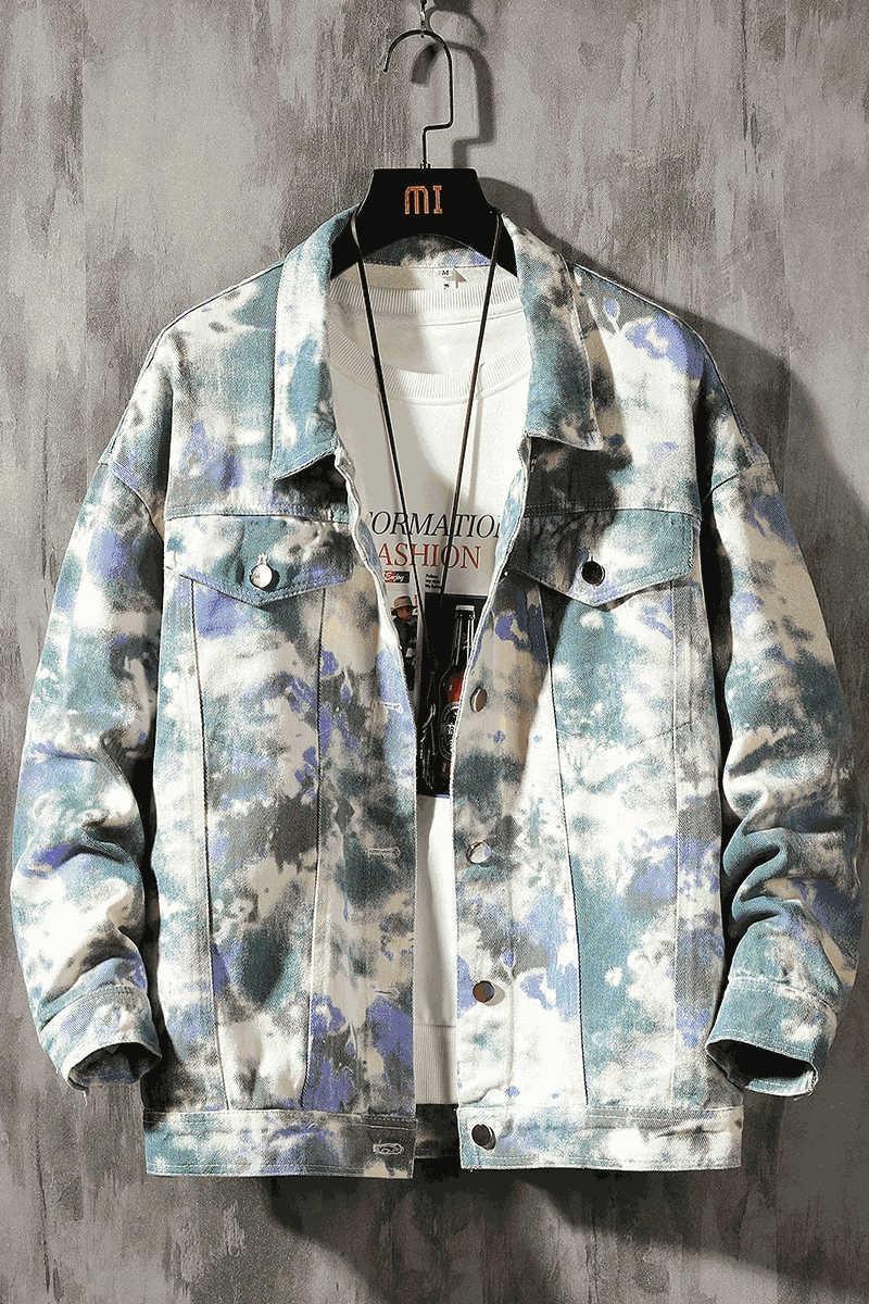 2020 novos homens de jeans Outono Vaqueiro chapéu de cowboy hatJacket denim chapéu da moda ferramental coreano jaqueta casual lB0sR jaqueta