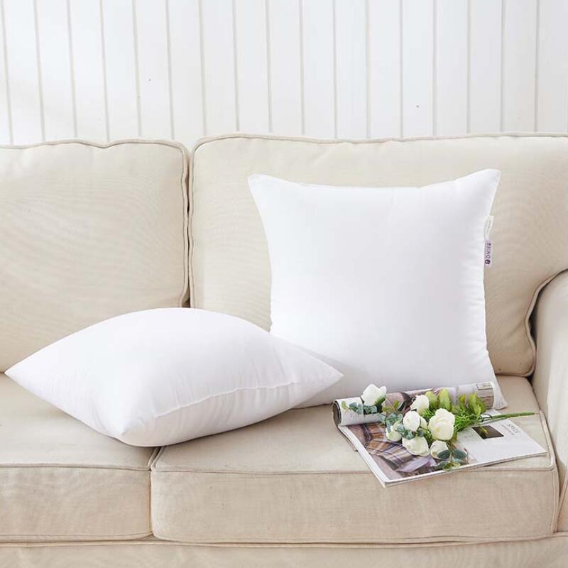 Funda de almohada de sublimación Impresión de transferencia de calor Cubiertas de almohada de almohada en blanco 40x40cm sin insertar cubiertas de almohadas de poliéster LX3230