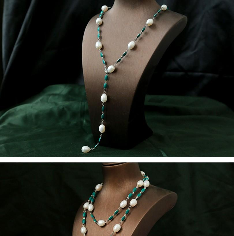 chaming kadınların doğal inci kolye küpe set up-pazar 25c