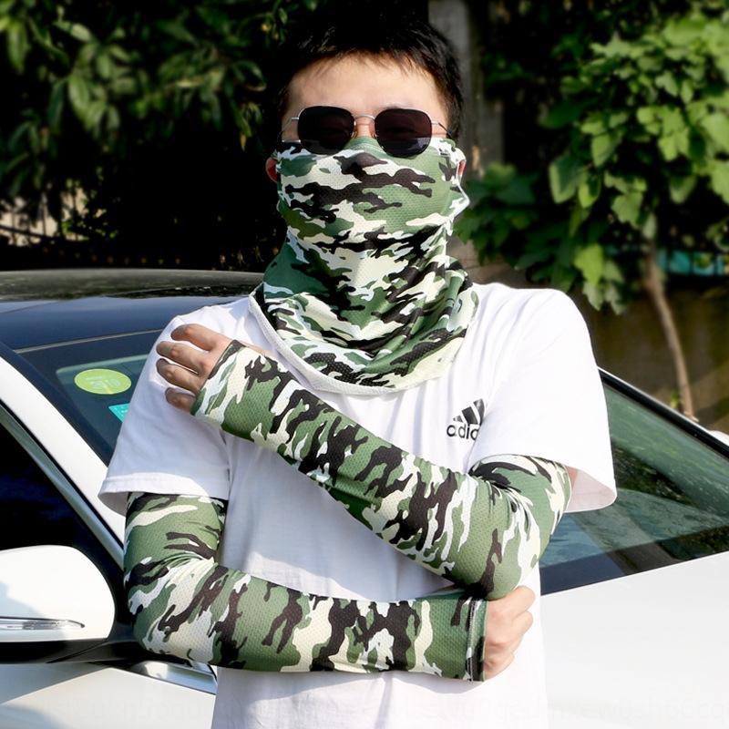 1c42b Мужская защита от солнца Шелковый спорта на открытом воздухе верхом сетки дышащая быстросохнущая летом маска большой размер руки костюм Открытый спортивный лед sleev