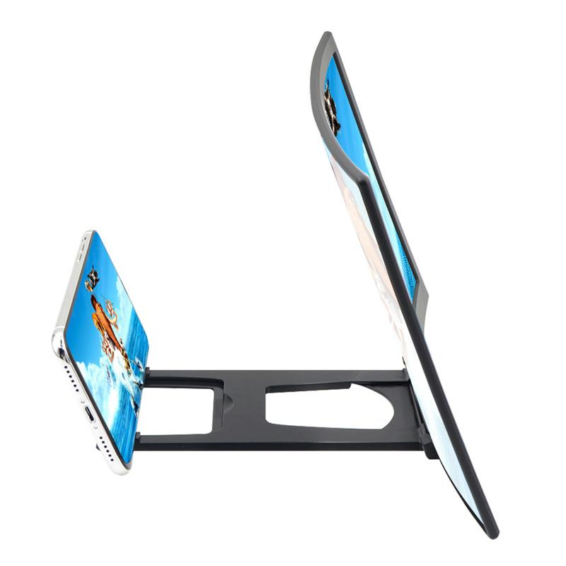 12 inch Mobile Phone 3D Screen Video Magnifier for note20 Curved Enlarged Smartphone Movie Amplifying for samsung Projector Stand Bracket