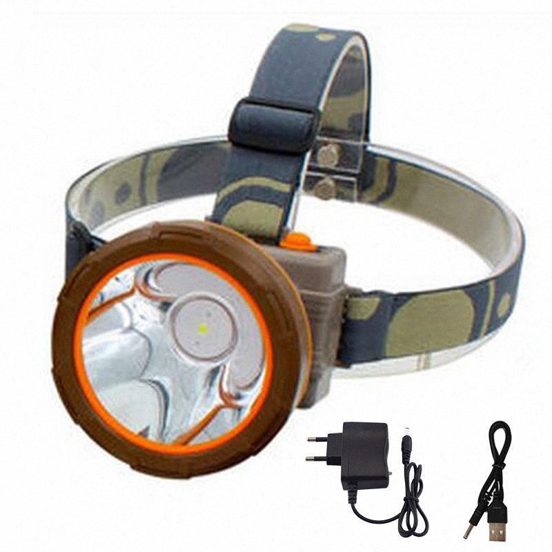 Super Bright phare rechargeable avec batterie haute Headlamp puissance Led Frontal Head Light Lampe torche Lampe pour la pêche Camping He2P #