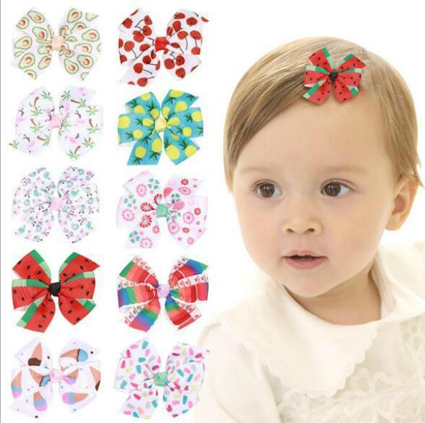 2019 Fruit Print Fabric Kids Baby Hair Clip Baby Hair Clips Your Fashion Your Styles