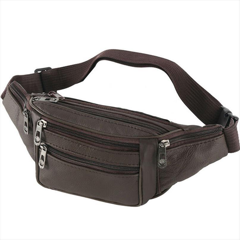 Простые мужчины сплошной талии Сумка для бегущих женщин Фанни пакет PU кожаный ремень сумка сумочка черный цвет высокого качества