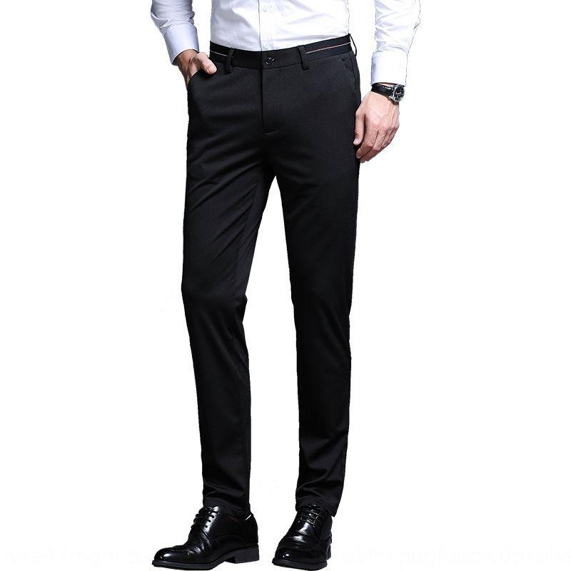 calças de negócios calças 0T4fa Playboy casuais simples elegante terno ocasional elástico para homens MW1rl