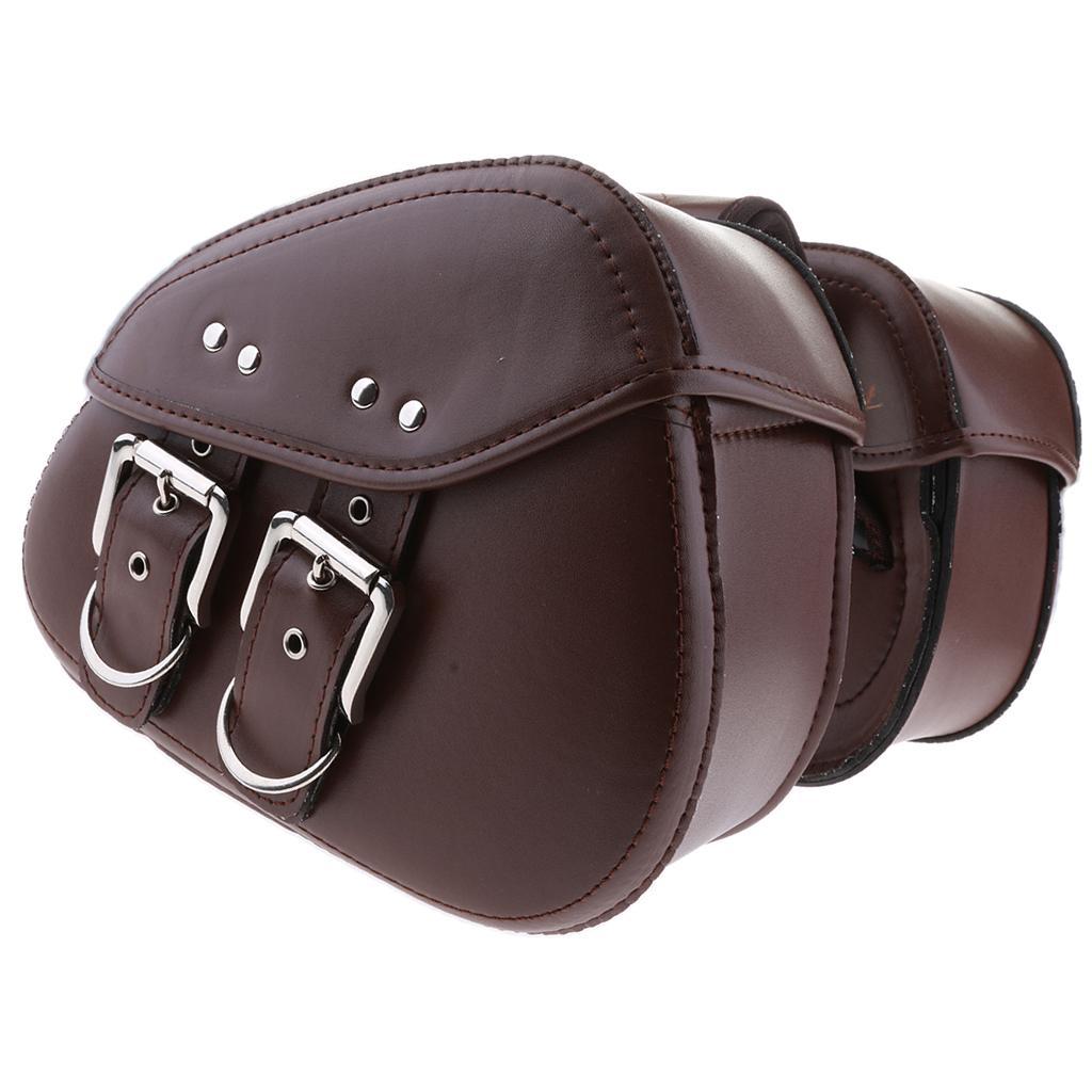 Kahverengi Motosiklet İki Çantaları panniers Harley Yamaha için Kol Eyer Bag Salıncak